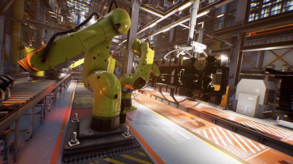 Automated Factory Environment 3D Animation PixelBoom