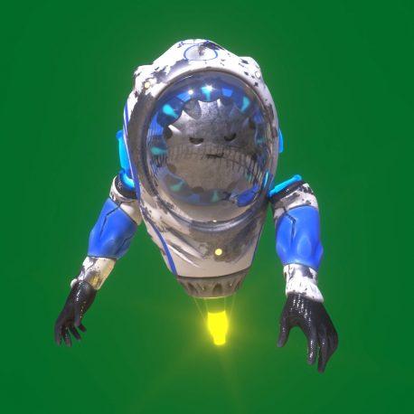 Flying Robot Green Screen 3D Animation PixelBoom