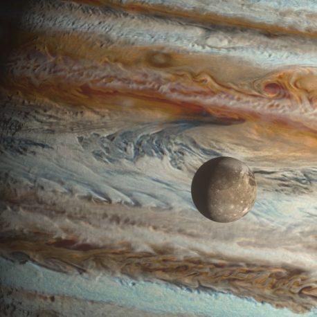 Jupiter and its Moons Io Europa Ganymede Callisto 3D Animation