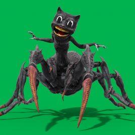 Green Screen CartoonCat Spider Evolution 3D Animation PixelBoom