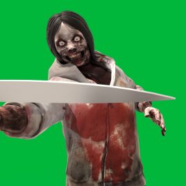 Green Screen Jeff the Killer 3D Animation PixelBoom