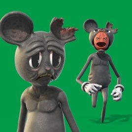 Cartoon Mouse Green Screen 3D Animation PixelBoom