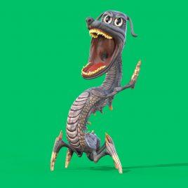 CartoonDog Dragon Evolution Green Screen 3D Animation PixelBoom
