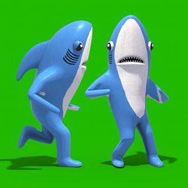 Green Screen Mr Shark Baby Shark Kids Songs 3D Animation PixelBoom