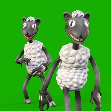 Cartoon Sheep Green Screen 3D Animation PixelBoom