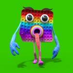 Green Screen Mr Pop it 3D Animation PixelBoom