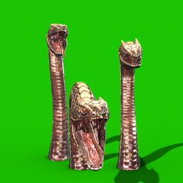 Green Screen Dragon Snake 3D Animation PixelBoom