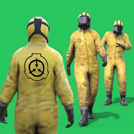 Green Screen SCP Anti Contamination Suit PixelBoom