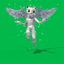 Green Screen Cartoon Cat Snow 3D Animation PixelBoom