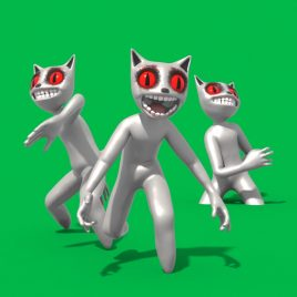 Green Screen Evil Cartoon Snow 3D Animation PixelBoom